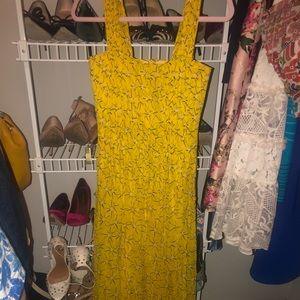 DVF Star print maxi dress
